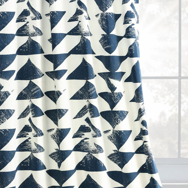 Triad Indigo 96 x 50 In. Printed Cotton Twill Curtain Single Panel, image 8