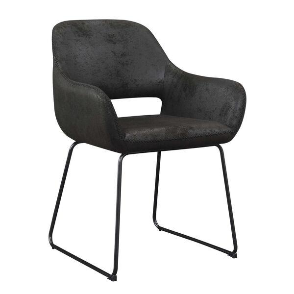 Samantha Antique Black Accent Chair, image 3