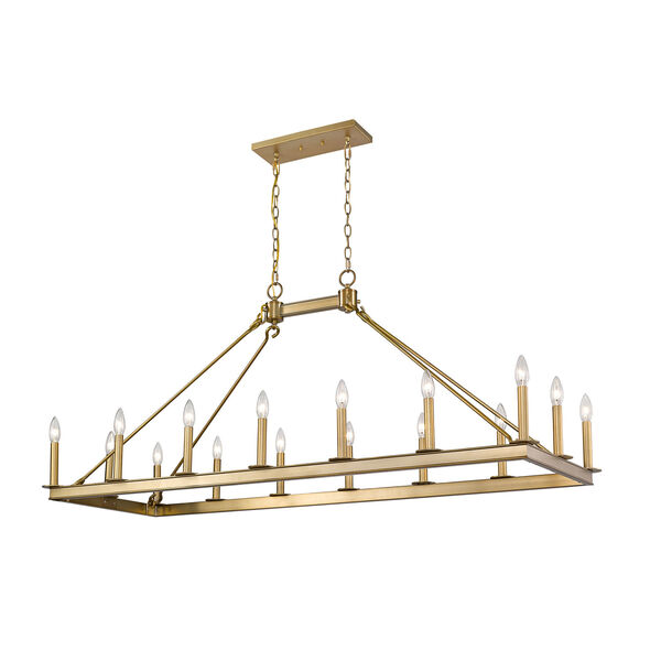 Barclay Olde Brass 16-Light Island Chandelier, image 1