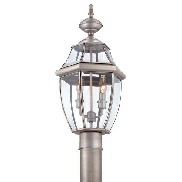 Newbury Pewter Outdoor Post-Mounted Lantern, image 5
