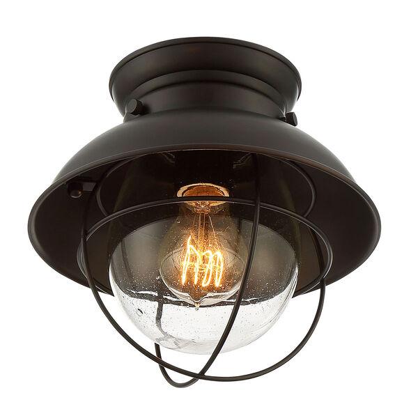 River Station Rubbed Bronze One-Light Industrial Lantern Flush Mount, image 2