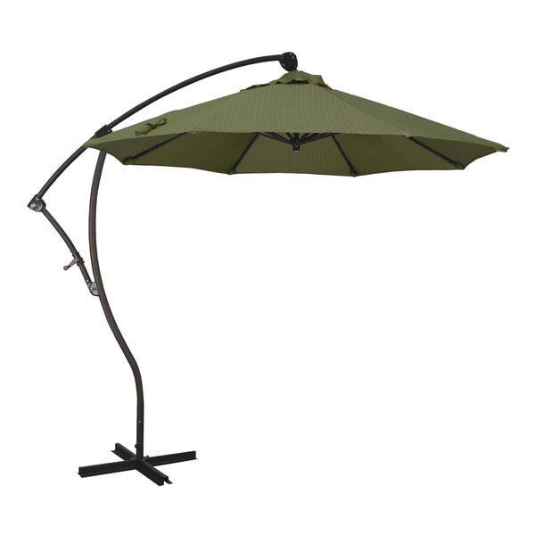 Bayside Bronze with Terrace Fern Nine-Feet Olefin Patio Umbrella, image 1