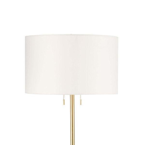 Bruno White Two-Light Floor Lamp, image 2