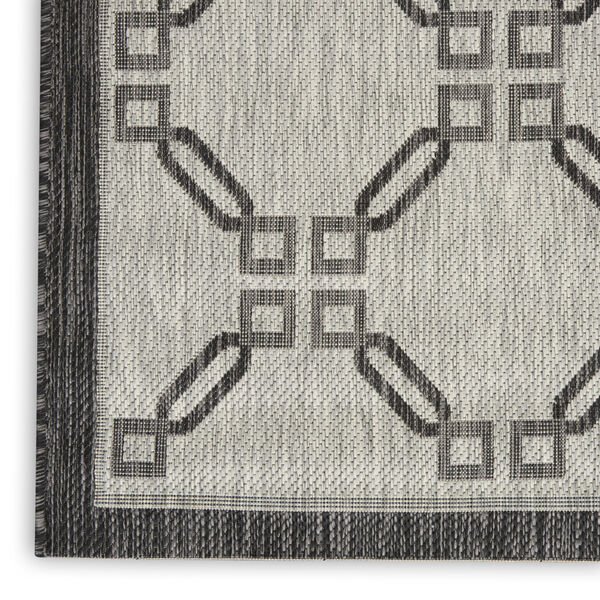 Garden Party Charcoal and Ivory Indoor/Outdoor Area Rug, image 5