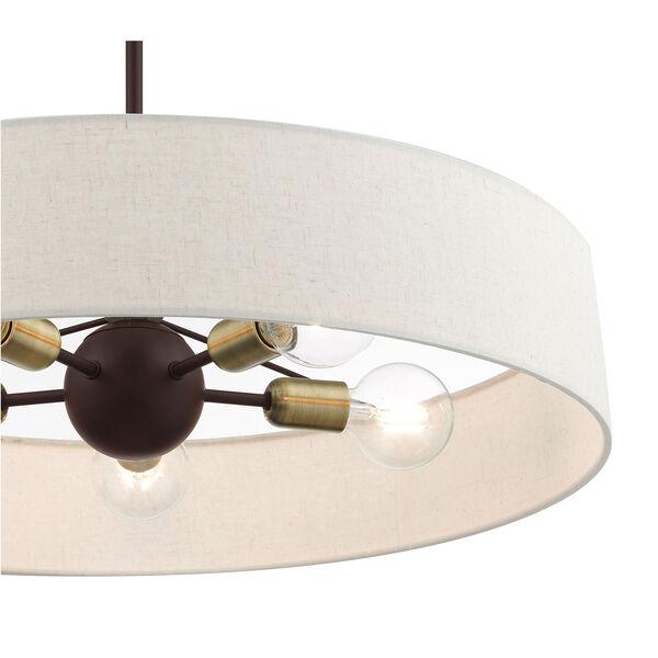 Venlo Bronze and Antique Brass 26-Inch Five-Light Pendant, image 6