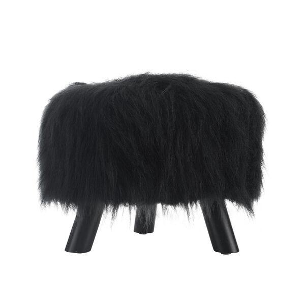 Luke Faux Fur Foot Stool, image 2