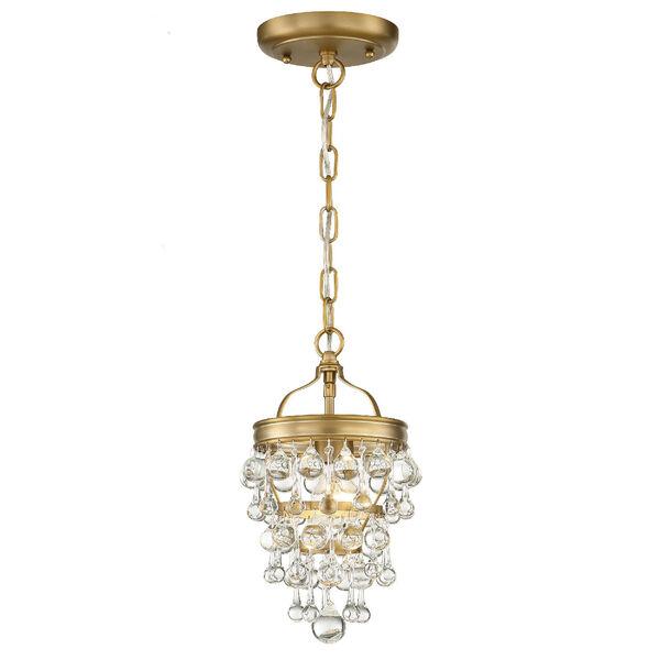 Calypso One-Light Vibrant Gold Mini Chandelier, image 2