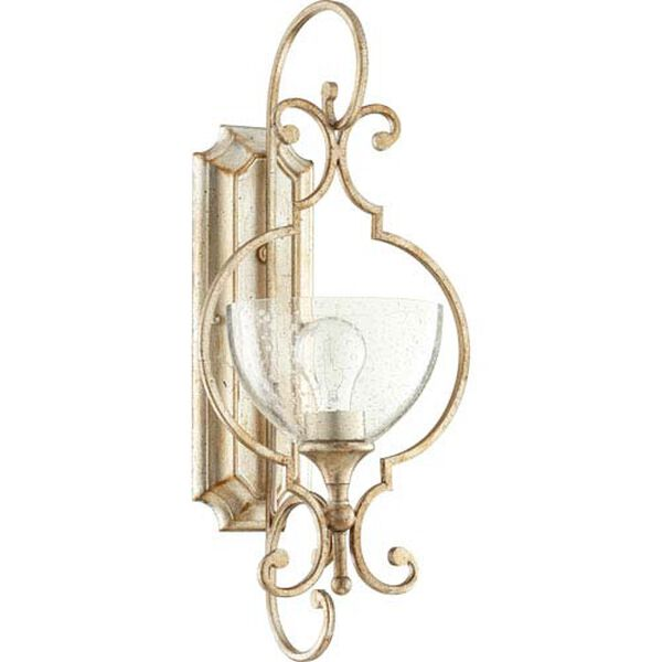 Acacia Aged Silver Leaf One-Light Wall Sconce, image 1