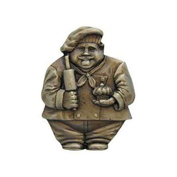 Antique Brass Baker Knob , image 1