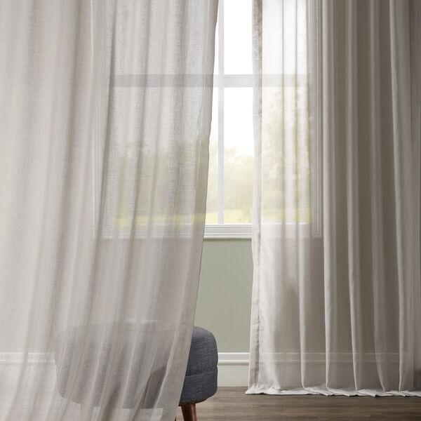 Tumbleweed Faux Linen Sheer Single Panel Curtain Panel, 50 X 108, image 2