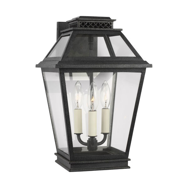 Falmouth Dark Weathered Zinc Three-Light Outdoor Wall Sconce, image 2