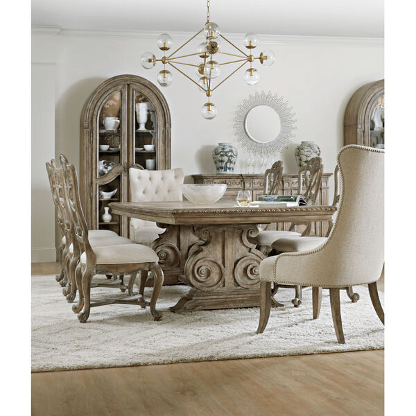 Castella Brown Dining Table with 2 Removable Leaves, image 5