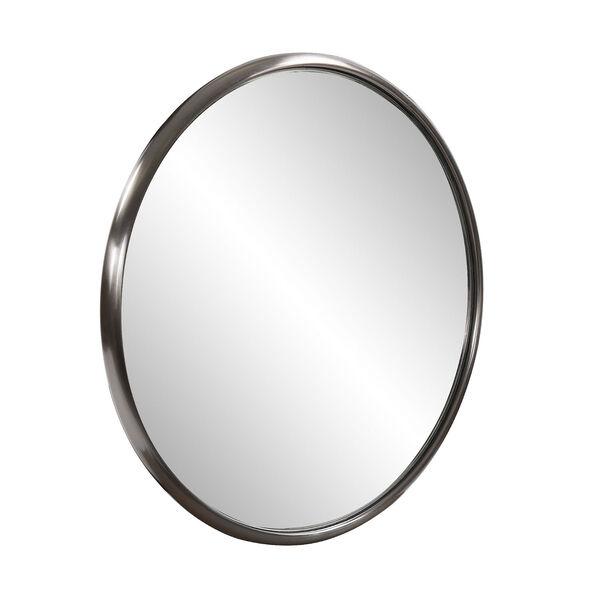 Yorkville Brushed Titanium 20-Inch Round Wall Mirror, image 2