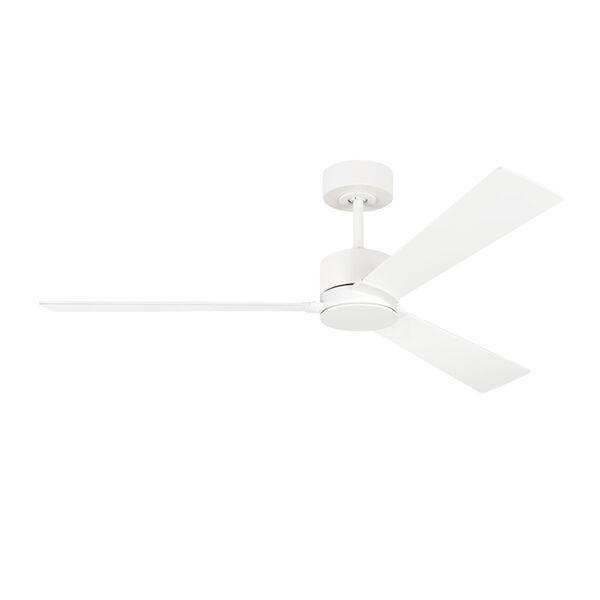 Rozzen Matte White 52-Inch Ceiling Fan, image 1