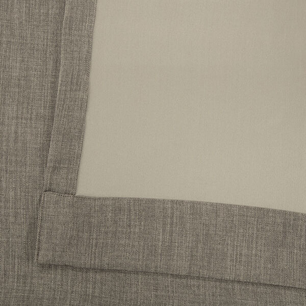 Grey 84 x 50-Inch Polyester Blackout Curtain Single Panel, image 5