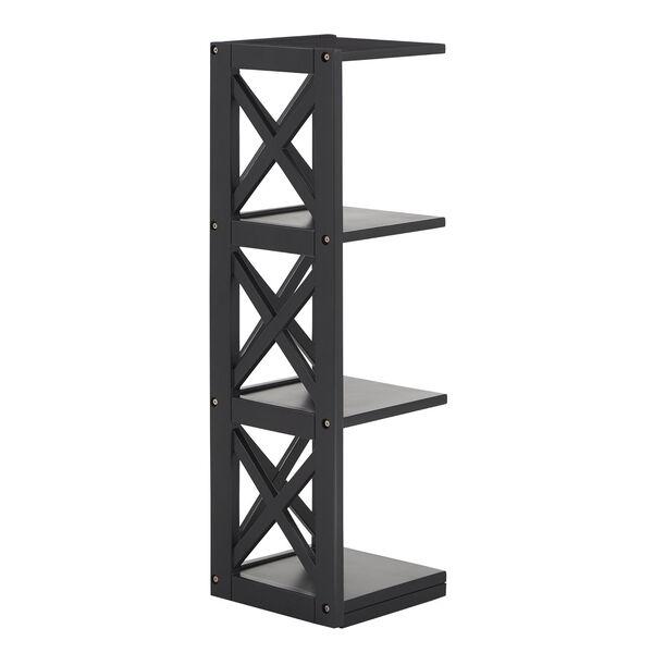 Tanya Black X-Frame Three-Shelve Bookcase, image 3