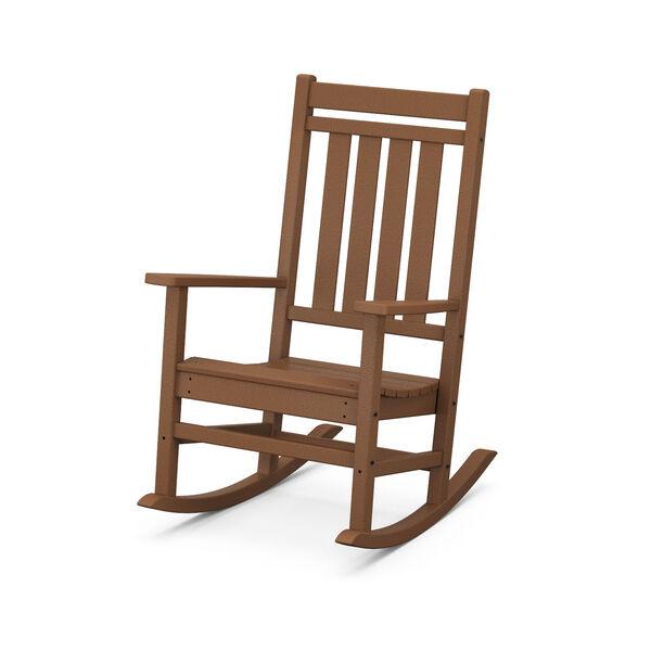 Estate Teak Rocking Chair, image 1