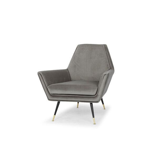 Vanessa Smoke Gray and Black Occasional Chair, image 4