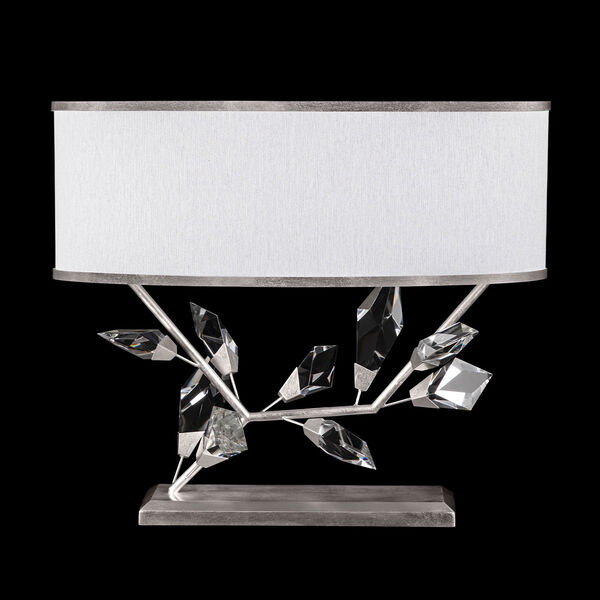 Foret Silver White Two-Light Table Lamp, image 1