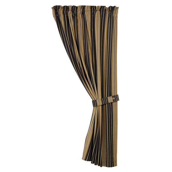 Ashbury Black and Tan 48 x 84-Inch Curtain Single Panel, image 1