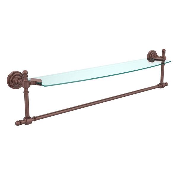 Retro Dot Antique Copper 24 Inch Single Shelf w/ Towel Bar, image 1
