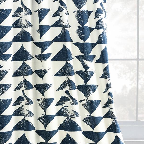 Triad Indigo 84 x 50 In. Printed Cotton Twill Curtain Single Panel, image 8