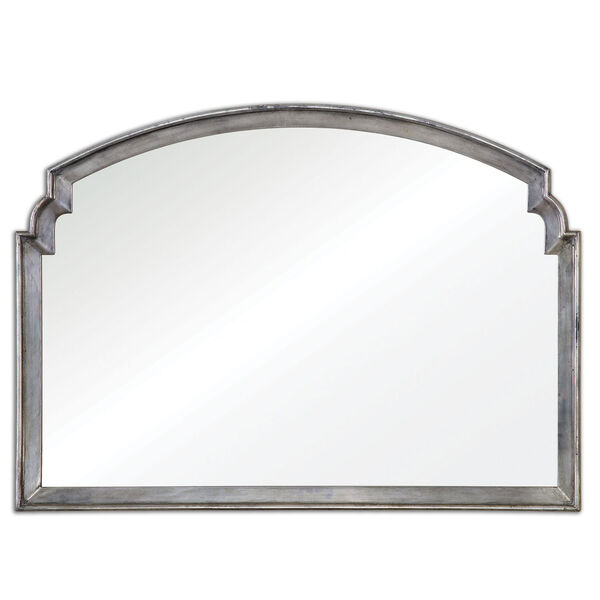 Via Della Lightly Antiqued Silver Mirror, image 2