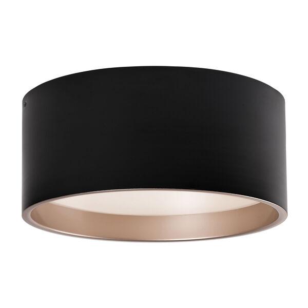 Black 17-Inch One-Light LED Flush Mount, image 1