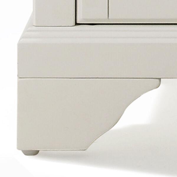 LaFayette Solid Granite Top Kitchen Island in White Finish, image 3