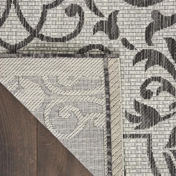 Garden Party Ivory and Charcoal 2 Ft. 2 In. x 7 Ft. 6 In. Indoor/Outdoor Runner Rug, image 3