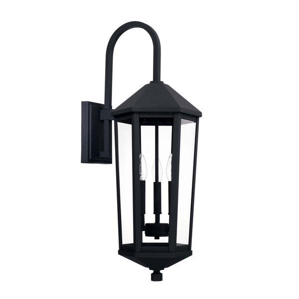 Ellsworth Black 10-Inch Three-Light Outdoor Wall Lantern, image 1
