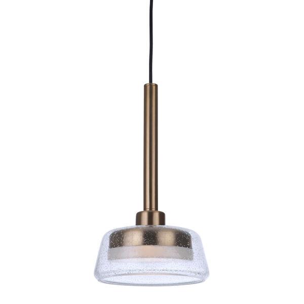 Centric Satin Brass LED Mini Pendant, image 3