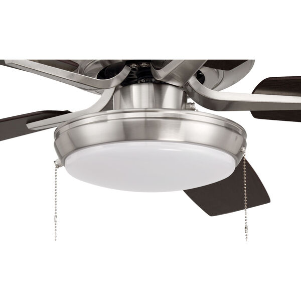Pro Plus Brushed Polished Nickel 52-Inch LED Ceiling Fan with Frost Acrylic Pan Shade, image 7
