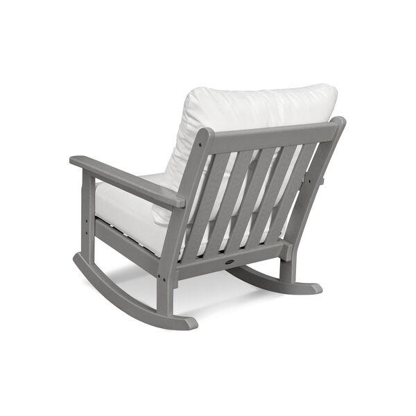 Vineyard Teak and Dune Burlap Deep Seating Rocking Chair, image 3