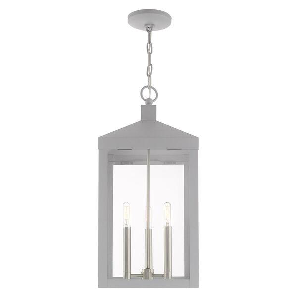 Nyack Nordic Gray 11-Inch Three-Light Pendant Lantern, image 3