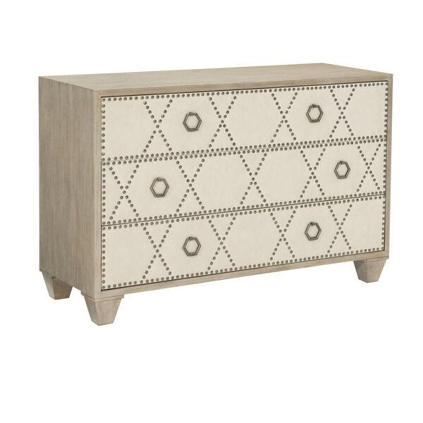 Santa Barbara Sandstone White Oak Veneers and Fabric Drawer Chest, image 2
