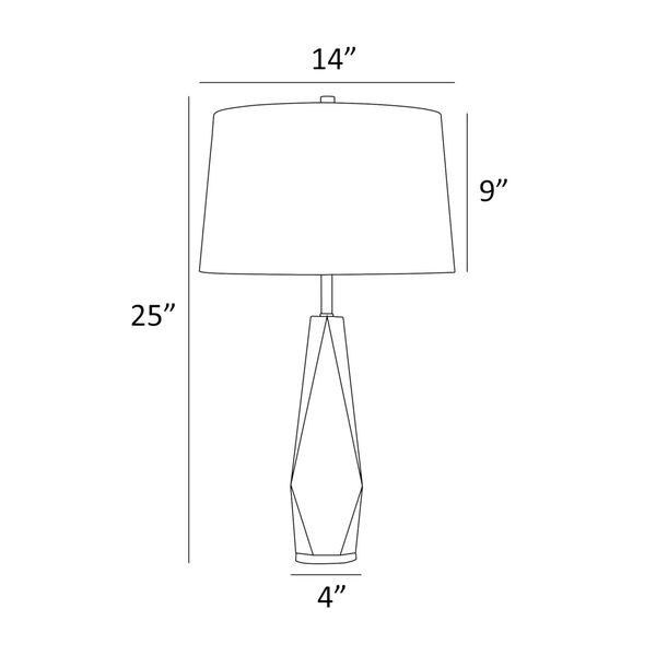 Callum Crystal White One-Light Table Lamp, image 4