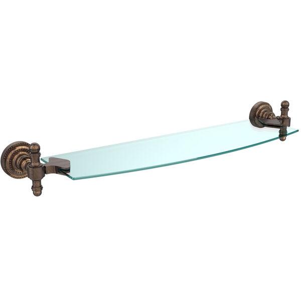 Retro Dot Venetian Bronze 18 Inch Single Glass Shelf, image 1