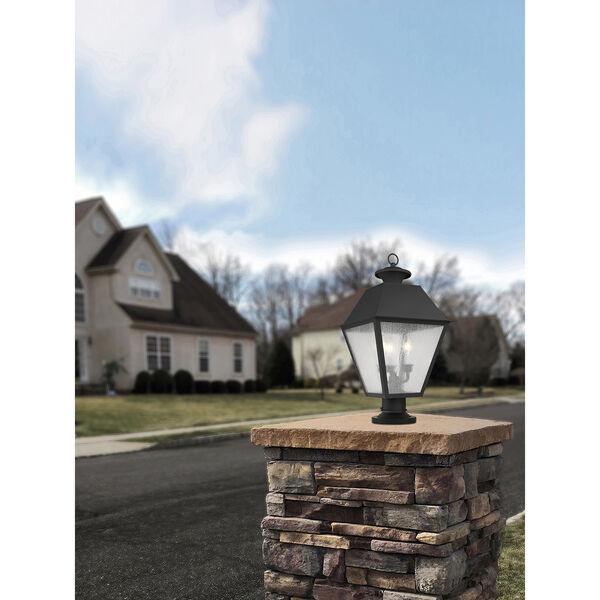 Mansfield Black Three-Light Outdoor Post Head, image 6