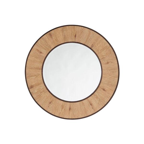 Los Altos Brown Carins Round Mirror, image 1