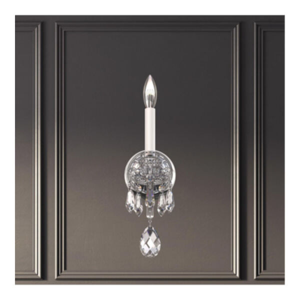 Hamilton Nouveau Silver One-Light Wall Sconce, image 2