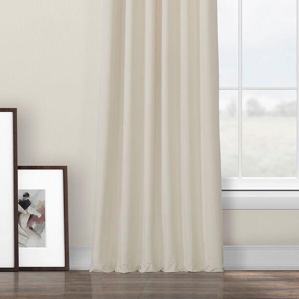 Ivory Heritage Plush Velvet Curtain Single Panel, image 5