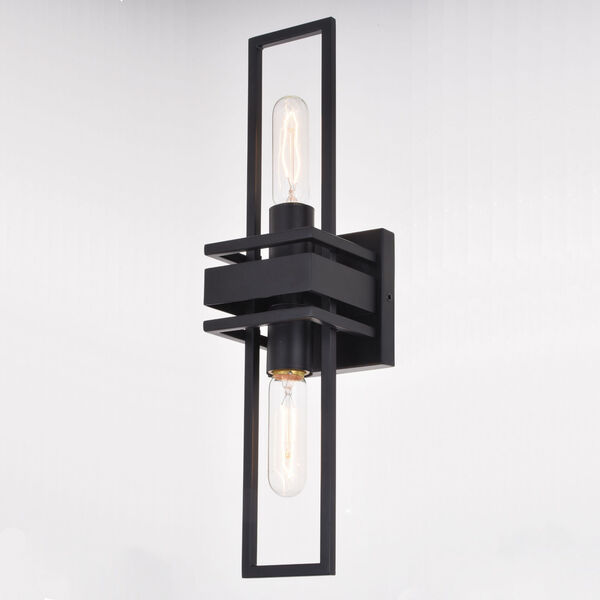 Marquis Matte Black Two-Light Wall Sconce, image 4