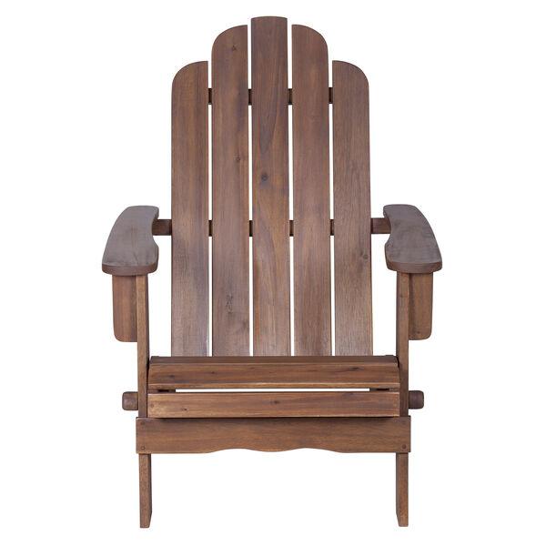 Acacia Adirondack Chair - Dark Brown, image 3