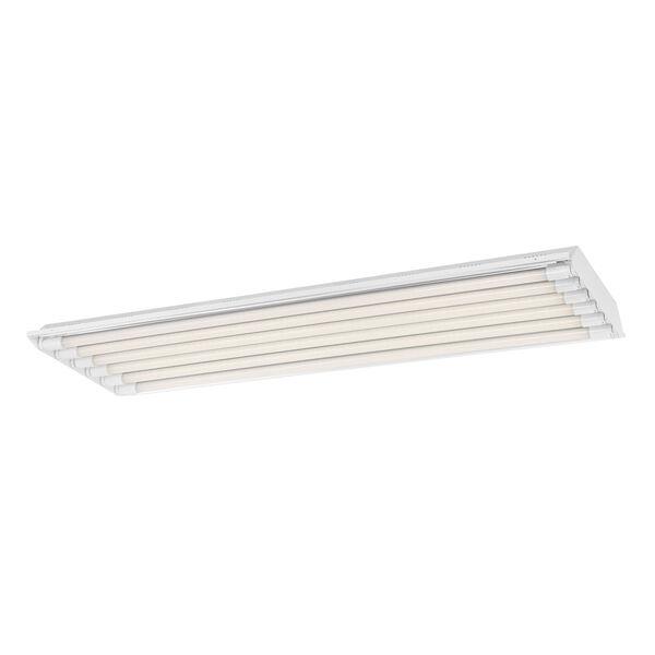 White 48-Inch 160W 3500K Six-Light LED High Bay Light, image 1