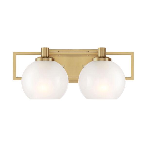 Cowen Brushed Gold Two-Light Bath Vanity, image 1