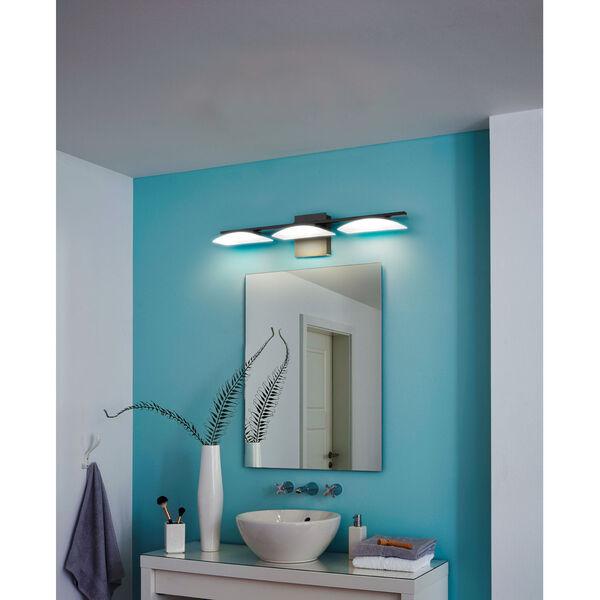 Metrass 3 Black Three-Light LED Bath Vanity, image 2