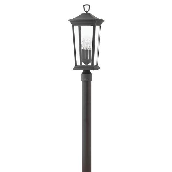 Bromley Museum Black Three-Light LED Post Mount, image 1