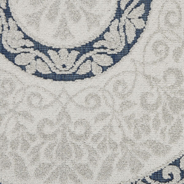 Calobra White and Blue Indoor/Outdoor Area Rug, image 6