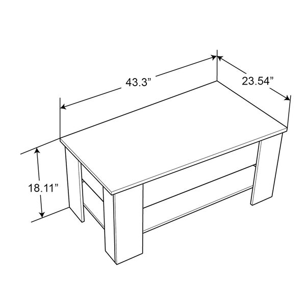 Black 24-Inch Coffee Table, image 3